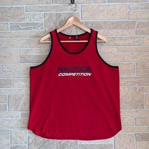 Vintage Nautica Competition Logo Red Tank Top